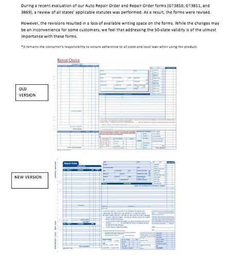 Amazon.com : Adams Garage Repair Order Forms, 8.5 x 11.44 Inches ...