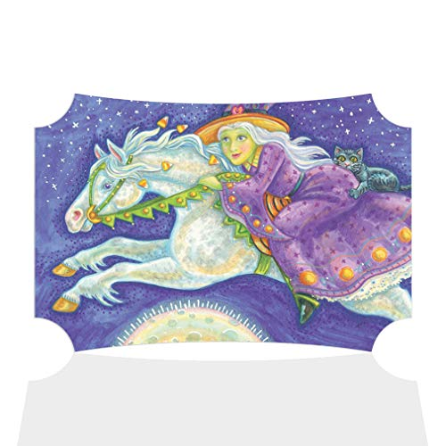 Sign Destination Aluminum Metal Wall Decor Rider Witch White Horse Halloween Picture Horizontal Poster Picture Photo Print Wall Art - Berlin Shape, -