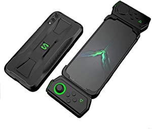 Kesv Shockproof Protective TPU Phone Case for Suitable for Suitable for Xiaomi Black Shark 2nd Generation / 2nd Generation Pro Black Heat Dissipation Cover Protector Skin with Gamepad Slot