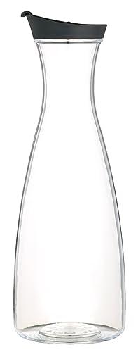 KitchenCraft Juice Jug, Transparent/Black, 1.7 Litre