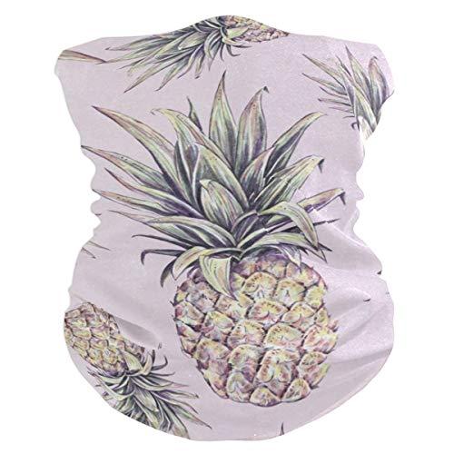 - Lovexue Tropical Pineapple On PinkBalaclava Womens Headband Scarf Mens Bandana,Muffler,Neck Gaiter,Magic,Foulard Collars