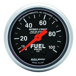 Auto Meter 3312 Sport-Comp Mechanical Fuel Pressure Gauge