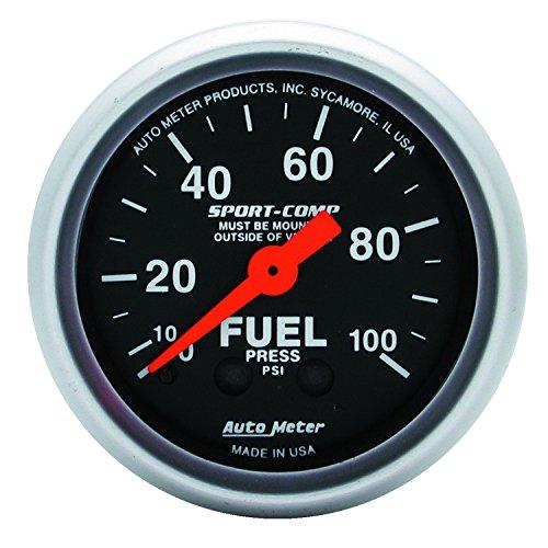 Auto Meter 3312 Sport-Comp Mechanical Fuel Pressure Gauge by Auto Meter