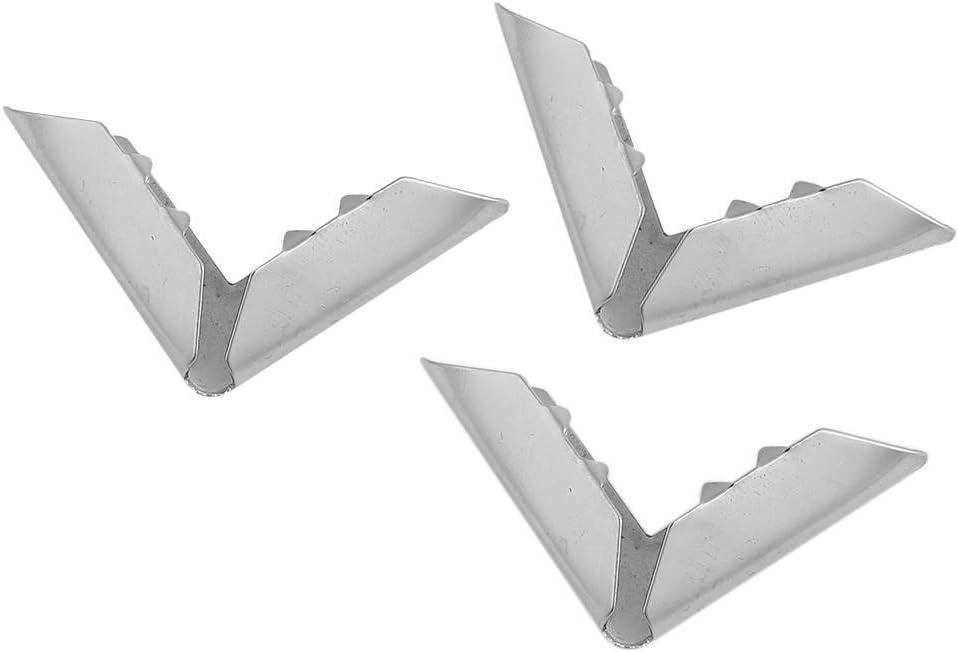 colore argento paraspigoli angoli di libri 4 pezzi Guinzaglio da giardinaggio 30 x 43 x 6 mm