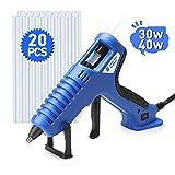 Hot Glue Gun,Kingsdun 30/40W Dual Power Hot Melt Glue Gun Kit with 20
