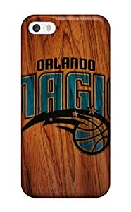 Fashion Tpu Case For Iphone 5/5s- Orlando Magic Nba Basketball (4) Defender Case Cover