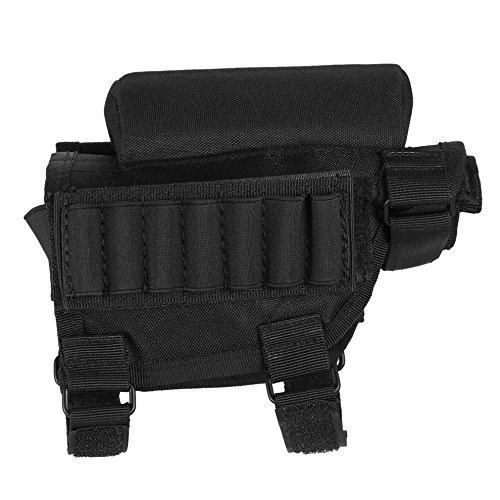 Adjustable Tactical Butt Stock Shotgun Cheek Rest Pouch Bullet Holder Bag