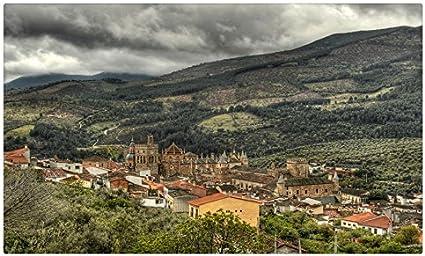 España paisaje casas campos Caceres ciudades sitios de viajes postal Post tarjeta: Amazon.es: Oficina y papelería