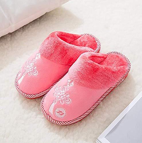 B Oudan Chaussures Pour Femmes Pantoufles D 40 De L'hiver Antidérapantes 41 Taille coloré Chaudes Femmes rAS6nFr
