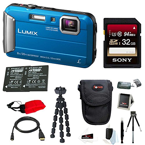 Panasonic Lumix DMC-TS30 Digital Camera (Deluxe, Blue)