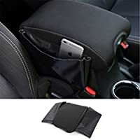 Dwindish Black Car Center Console Armrest Seat Box Pad Cover for Jeep Wrangler 2007 Up