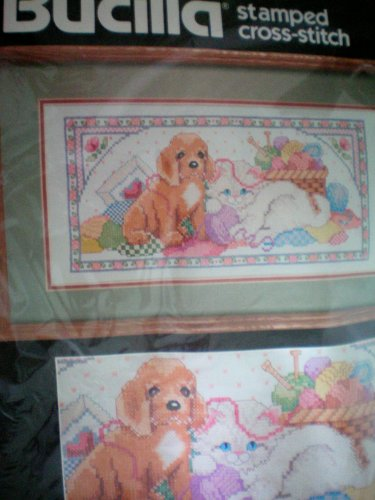 Bucilla Stamped Cross Stitch -- Playful Pals -- Adorable Pup