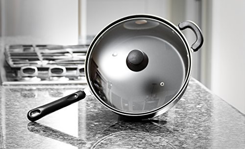 Deep Carbon Steel Fry Pan or Skillet - 11 Inch Frying Pan