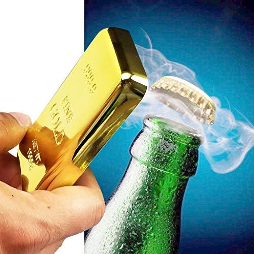 AIUSD Clearance , Gold Bar Bottle Opener & Magnet Golden Bullion Fridge Beer Bar Kitchen Utensils