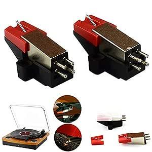 Funrose - Agujas de repuesto para tocadiscos y grabadores de ...