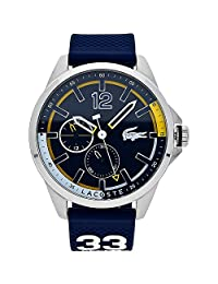 Lacoste Men's 'CAPBRETON' Quartz Stainless Steel and Silicone Casual Watch, Color:Blue (Model: 2010897)