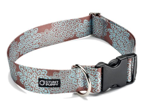 Stunt Puppy Croakies Kahuna Big Dog Collar, 1.5 Inch, Mum Turquoise