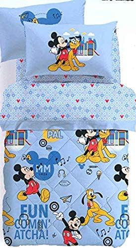 Trapunte E Piumoni Disney.Caleffi Trapunta Da Una Piazza E Mezza Peso Invernale Originale Disney Art Mickey Mouse 75949 In Puro Cotone Cm 215x260 Amazon It Casa E Cucina