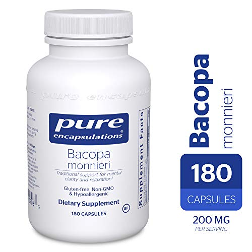 Pure Encapsulations – Bacopa Monnieri – Hypoallergenic Support for Memory, Mental Performance and Stress Management* – 180 Capsules For Sale