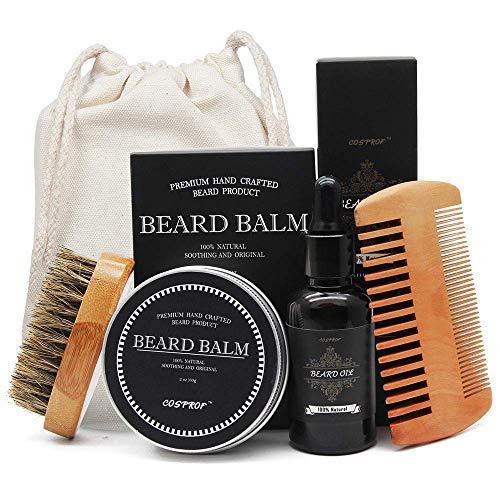 aptoco-barba-y-recortar-Kit-para-hombres-cuidado-barba-Cepillo-peine-para-barba-sin-aroma-aceite-de-barba-y-barba-Blsamo