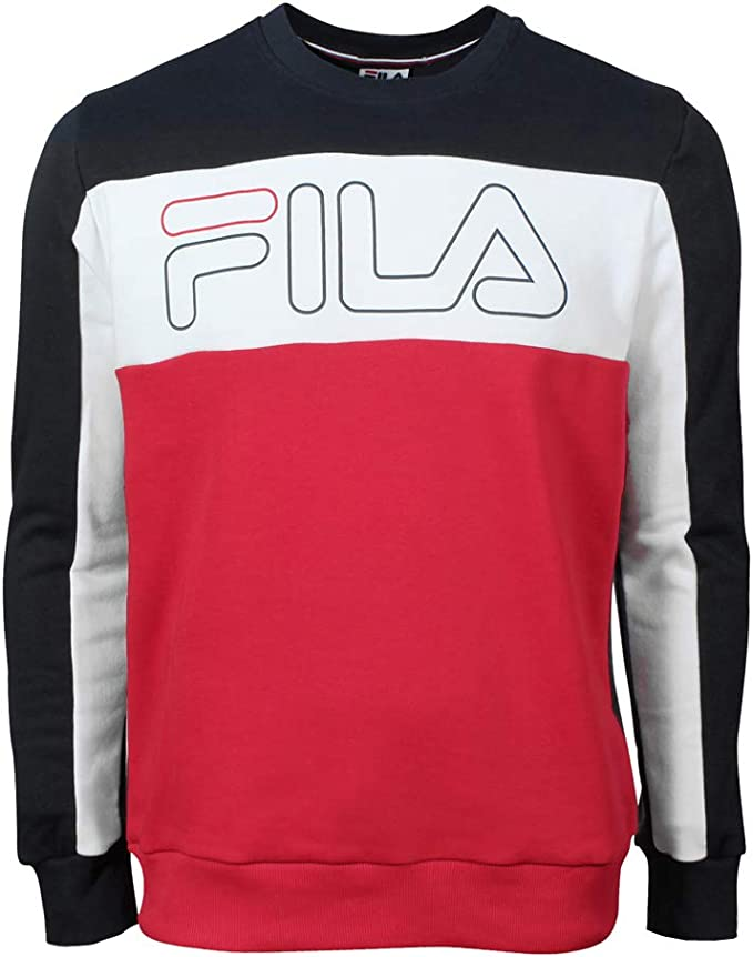 Fila Herren Pullover Hoodie Sweater Randy Fila Red Peacoat