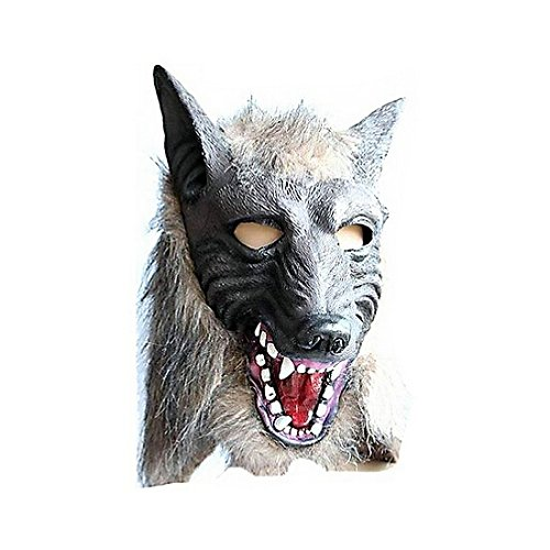 Scariest Michael Myers Mask (Miraclekoo Wolf Head Latex Mask Halloween Mask,grey,1pcs)