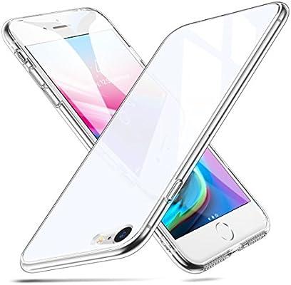 67ae9357dea ESR Funda para iPhone 8/7 Cristal Templado [Imita la Parte Posterior del  Vidrio del iPhone 8/7] [Resistente a los Arañazos] + Borde de Silicona  Suave ...