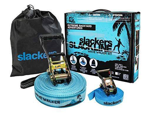 b4 Adventures Slackers Wave Walker Kit, Blue, 50' (1 Slackline)
