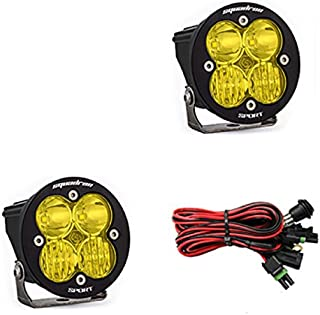 product image for Baja Designs Squadron-R Sport Pair UTV LED Light Driving Combo Amber Pattern