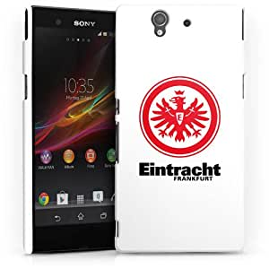 Carcasa Design Funda para Sony Xperia Z L36H HardCase white - Eintracht Frankfurt weiss rot