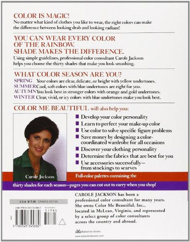 Color Me Beautiful: Discover Your Natural Beauty Through the Colors That Make You Look Great and Feel Fabulous                         (Paperback)