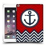 Head Case Designs Blue Anchor Nautical Chevron Hard Back Case for Apple iPad Air 2