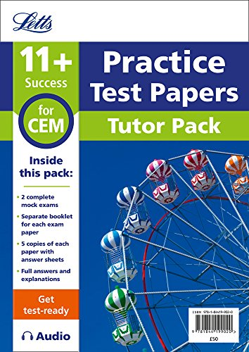 Letts 11+ Success – 11+ Mock Test Papers Tutor Pack for CEM Inc Audio Download by HarperCollins UK