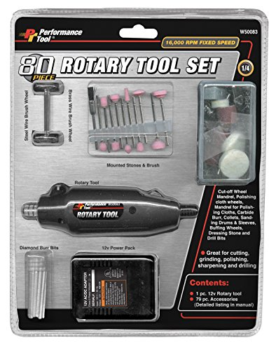 Performance Tool W50083 Rotary Tool, 80 Piece Accessories by Performance Tool (Image #3)