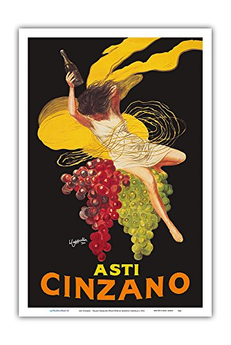 Asti Cinzano - Asti Spumante - Italian Sparkling White Wine - Vintage Advertising Poster by Leonetto Cappiello c.1910 - Master Art Print - 12in x 18in