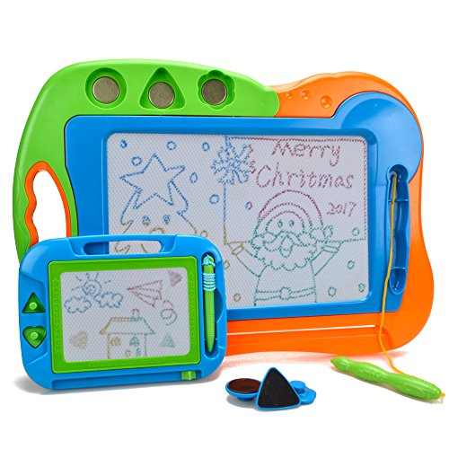 HANMUN Kids Drawing Board Doodler Sketch 2 Pieces Colorful Screen Erasable Learning Toys for - Etch Drawing Sketch