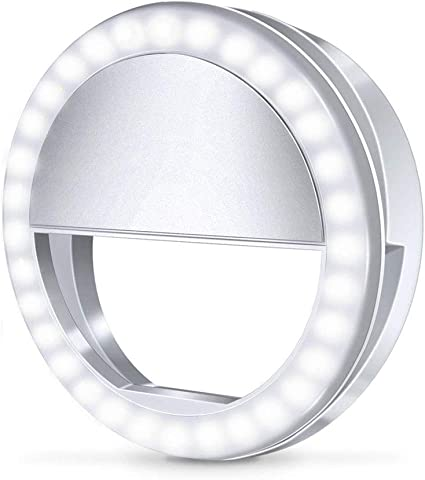 8 Plus Lens 7 Plus Selfie Ring Light with Lens for iPhone 6 Plus 7 Plus 8 Plus Cell Phone with 360 Degree LED Rechargeable Ring Light 6s Plus VANJUNN Selfie LED Light Case for iPhone 6 Plus