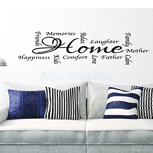 Vintage Home Quote Lettering Words Art Wall Stickers Decals Mural Wallpaper