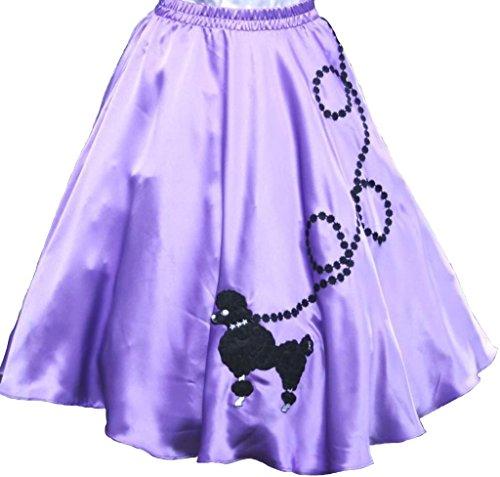 (3 BIG NOTES - Adult Satin Poodle Skirt Size XL/3XL (40