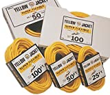 Tools & Hardware : Woods Industries 100 Ft Yellow Jacket 14/3 Contractor Grade Cord Flexible Abrasion Resistant by Woods Industries