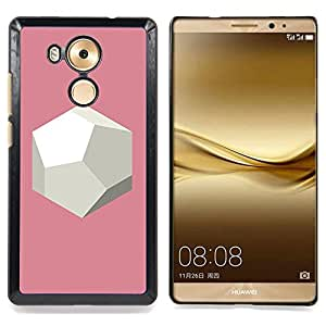 - Polygon Art Planet Pink Beige Sphere - - Snap-On Rugged Hard Cover Case Funny HouseFOR Huawei Mate 8