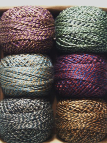 - Valdani Size 12 Perle Cotton Embroidery Thread Twisted Tweed Collection (PC12-TwistedTwd)