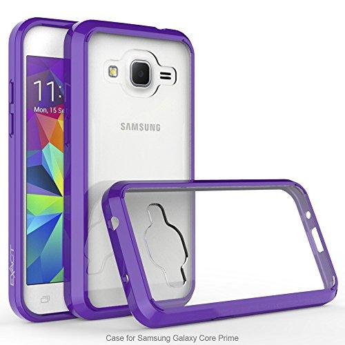 Galaxy Core Prime/Prevail LTE Case, Exact PRISM Series - TPU Grip Bumper / Resistant / Protection / Slim-Fit Transparent Bumper Case for Samsung Galaxy Core Prime, Galaxy Prevail LTE Purple/Clear (Samsung Galaxy Prevail Cases)