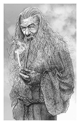 (I am a wizard mind you Giclee print from a pencil drawing)
