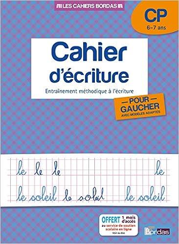 Amazon Fr Cahier D Ecriture Pour Gauchers Cp Collectif Livres