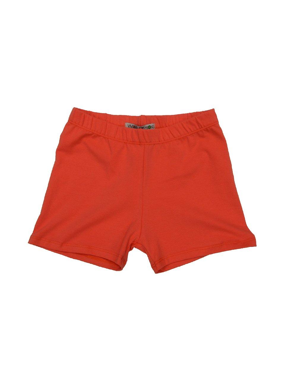 Vivian's Fashions Legging Shorts - Girls, Cotton (Orange, X-Large)