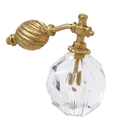 1/12 Dollhouse Miniatura Vintage Botella de Perfume de Cristal Claro con Atomizador: Juguetes y juegos