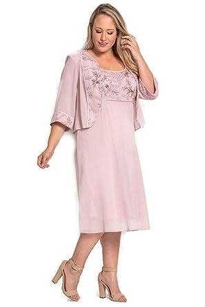 86d68a43889 Le Bos Mother of The Bride Plus Size Short Dress at Amazon Women s ...