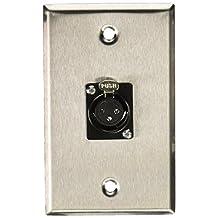 Monoprice 107396 XLR Female 3-Pin One-Port Zinc Alloy Wall Plate