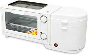 QERNTPEY Breakfast Maker Toaster 4-in-1 Breakfast Machine Household Multi-Function Steaming and Cooking Egg Toaster Toaster Oven Kitchen Baking Appliances Breakfast Station